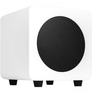 Kanto SUB6 6-inch 200W Powered Subwoofer, Matte White SUB6MW