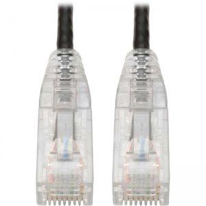 Tripp Lite Cat6 UTP Patch Cable (RJ45) - M/M, Gigabit, Snagless, Molded, Slim, Black, 8 in N201-S8N-BK