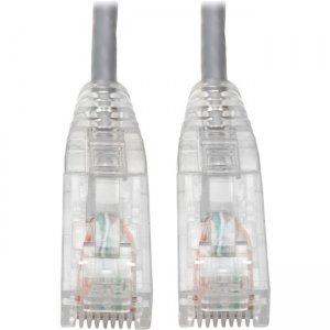 Tripp Lite Cat6 UTP Patch Cable (RJ45) - M/M, Gigabit, Snagless, Molded, Slim, Gray, 8 in N201-S8N-GY