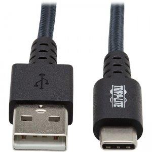 Tripp Lite Heavy-Duty USB-A to USB-C Cable (M/M), Gray, 10 ft. (3 m) U038-010-GY