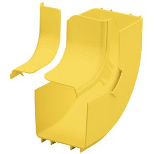 Panduit FiberRunner 4x4 Inside Vertical 90 Degree Angle Fitting FRIVRA4X4YL