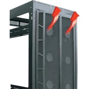 Middle Atlantic Products High CFM Split Rear Door, 44 RU DRK Racks D-CFRD-44