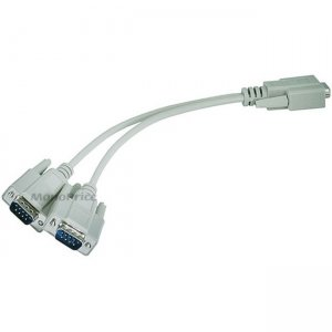 Monoprice RS232 Serial Mouse or Monitor Splitter Cable - (1)DB9 Female to (2) DB9 Male 4640