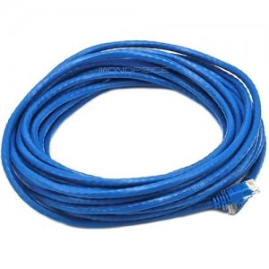 Monoprice 30FT 24AWG Cat5e 350MHz UTP Bare Copper Ethernet Network Cable - Blue 4900
