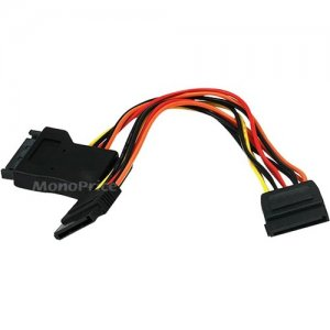 Monoprice 0.2meter 15Pin SATA Power Y Cable 5184