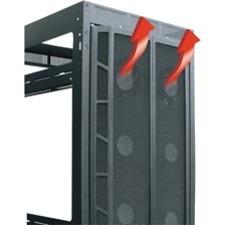 Middle Atlantic Products High CFM Split Rear Door, 45 RU Racks MW-CFRD-45