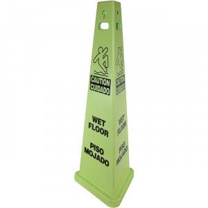"TriVu ""Wet Floor"" English/Spanish 3-Sided Safety Sign 9140 IMP9140"