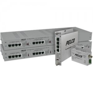 Pelco EC-3000C/U Series EthernetConnect Extender EC-3004CRPOE-W
