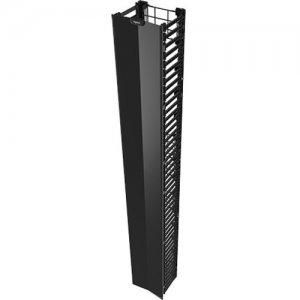 """Legrand Q-Series Vertical Manager, 7' H x 10"""" Wide, Single Sided QVMS710"""