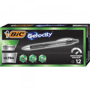 BIC Gel-ocity 0.7mm Ultra Retractable Gel Pen RGU11BK BICRGU11BK