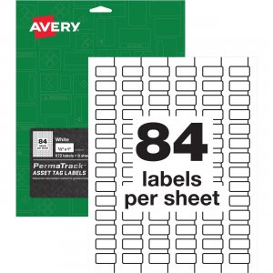 Avery PermaTrack Metallic Silver Asset Tag Labels 61527 AVE61527