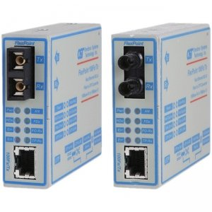 Omnitron Systems FlexPoint 100Fx/Tx Fast Ethernet Copper to Fiber Media Converter 4352-21