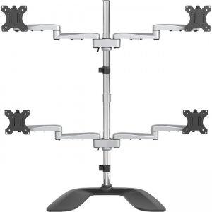 StarTech.com Quad-Monitor Stand - Articulating - Steel & Aluminum ARMQUADSS