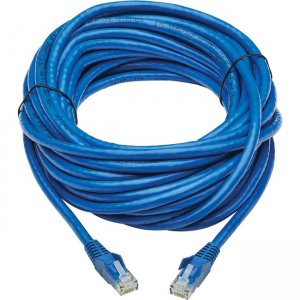 Tripp Lite Cat6 UTP Patch Cable (RJ45) - M/M, PoE, Gigabit, Snagless, CMR-LP, Blue, 30 ft N201P-030-BL