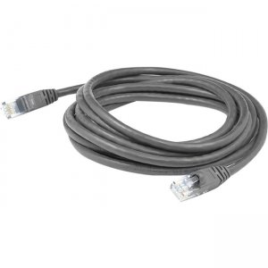 AddOn 9ft RJ-45 (Male) to RJ-45 (Male) Gray Cat6 Straight UTP PVC Copper Patch Cable ADD-9FCAT6-GY