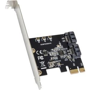 IO Crest 2 Port SATA III PCI-e 3.0 x1 Controller Card (Jmicro Chipset) SI-PEX40148