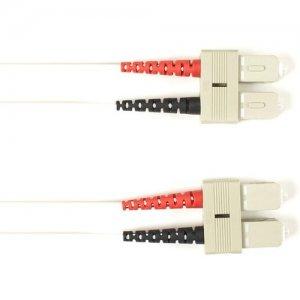Black Box Fiber Optic Duplex Patch Network Cable FOCMRM4-001M-SCSC-WH