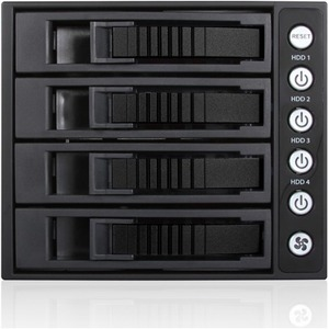 "iStarUSA 3x 5.25"" to 4x 3.5"" 2.5"" 12Gb/s HDD SSD SFF-8643 Hot-swap Rack BPU"