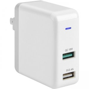 4XEM 30W Dual USB A Wall Charger Fast Charging 4XUSBAAPWR30W