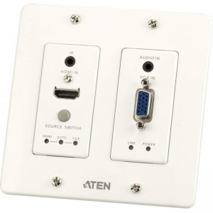 Aten HDMI & VGA HDBaseT Transmitter with US Wall Plate (4K@100m) VE2812UST
