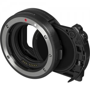 Canon Drop-in Filter Mount Adapter EF-EOS R with Drop-in Circular Polarizing Filter A 3442C002