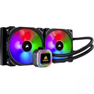 Corsair Hydro Series RGB Platinum 280mm Liquid CPU Cooler CW-9060038WW H115i