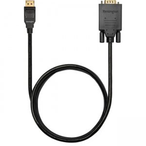 Kensington DisplayPort 1.2 (M) to VGA (M) Passive Unidirectional Cable, 6ft K33024WW