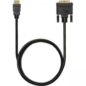 Kensington HDMI (M) to DVI-D (M) Passive Bi-Directional Cable, 6ft K33022WW