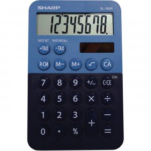 Sharp BBL Desktop Calculator EL760RBBL SHREL760RBBL EL-760R