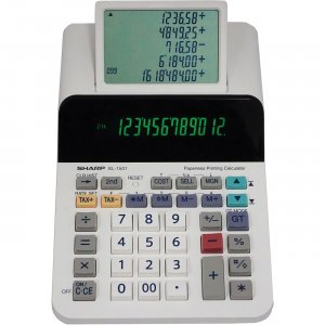 Sharp 12-digit Printing Calculator EL1501 SHREL1501 EL-1501