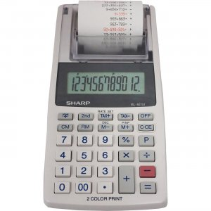 Sharp 12-digit Mini Printing Calculator EL1611V SHREL1611V EL-1611V