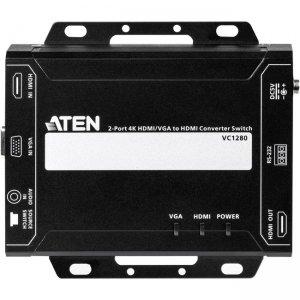Aten 2-Port 4K HDMI/VGA to HDMI Converter Switch VC1280