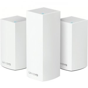 Linksys Velop Intelligent Mesh WiFi System, Tri-Band, 3-Pack White WHW0203 AC4800
