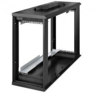 APC by Schneider Electric NetShelter WX 6U Low-Profile Wall Mount Enclosure 120V Fans AR106V