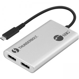 SIIG Thunderbolt 3 to Dual DP 1.2 Adapter JU-TB0611-S1