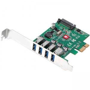 SIIG DP USB 3.0 4-Port PCIe Host Card JU-P40A11-S1