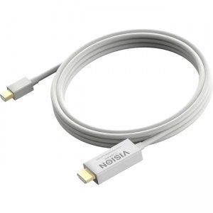 Vision Mini-Displayport to HDMI Cable TC 2MMDPHDMI