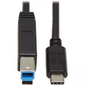 Tripp Lite USB-C 3.1 Gen 2 to USB 3.0 Type-B Cable (M/M), 20 in U422