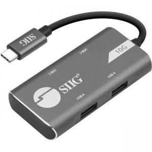 SIIG 4-Port USB 3.1 Gen 2 10G Hub - 2A2C JU-H40G11-S1