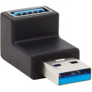 Tripp Lite USB 3.0 SuperSpeed Adapter - USB-A to USB-A, M/F, Up Angle, Black U324-000-UP