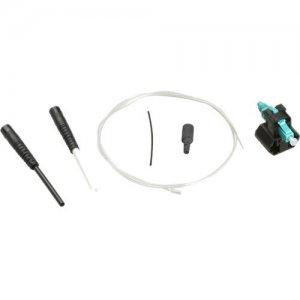 Black Box OM3 50-Micron Multimode Pre-Polished Fiber Connector - LC, Aqua, 6-Pack PP-LC-50MM-10G-6PAK