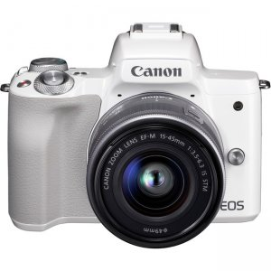 Canon EOS EF-M 15-45mm f/3.5-6.3 IS STM Lens Kit White 2681C011 M50