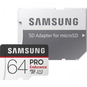 Samsung microSDXC PRO Endurance Memory Card W Adapter 64GB MB-MJ64GA/AM