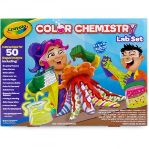 Crayola Chemistry Lab Set Steam Toy 50 Colorful Experiments 74-7244 CYO747244