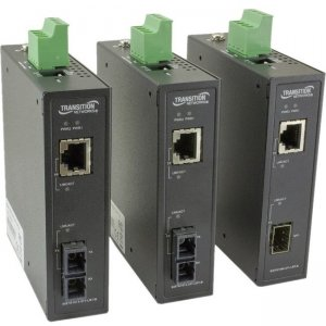 Transition Networks Unmanaged Hardened Gigabit Ethernet Media Converter SISTG1040-211-LRT-B SISTG1014-211-LRT-B