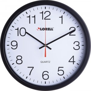 "Lorell 12-1/2"" Slimline Wall Clock 61008 LLR61008"