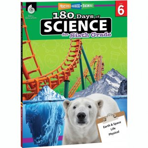 Shell Education 180 Days of Science Resource Book 51412 SHL51412