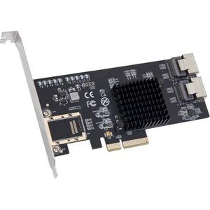 IO Crest 8 Port SATA PCIe x4 Controller Card SI-PEX40137