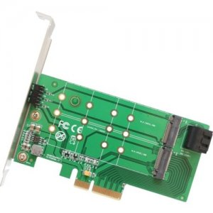 IO Crest 2 Port M.2 B key and 1 Port M.2 M Key PCI-e x4 Adapter Card