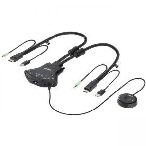 Belkin Secure 2-port Flip DP-to-DP KVM with Audio, PP 3.0 F1DN102FLP-DP-3